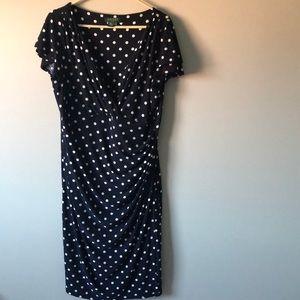Ralph Lauren Blue and White Polka Dot Dress 👗